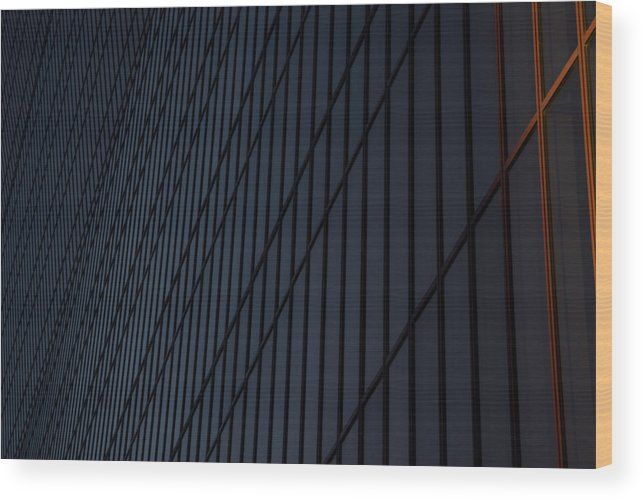 City Wood Print featuring the photograph Gradient Windows by Michael Cunsolo