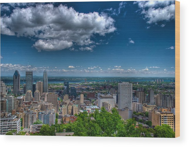 Canada Wood Print featuring the photograph Montreal View by Mike Horvath