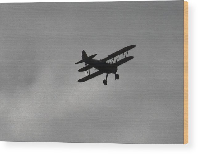 Biplane Photograph Wood Print featuring the photograph Old Biplane by Bonnie Brann