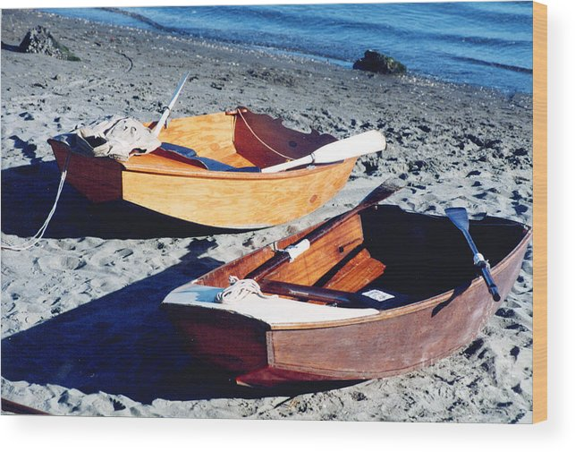 Row Boat Wood Print featuring the photograph On Your Mark Get Set Go by Bruce Borthwick