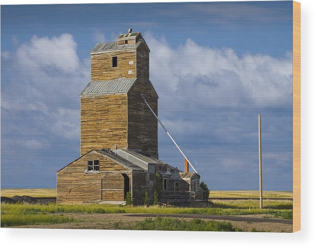 Art Wood Print featuring the photograph Photograph Of A Prairie Barn by Randall Nyhof
