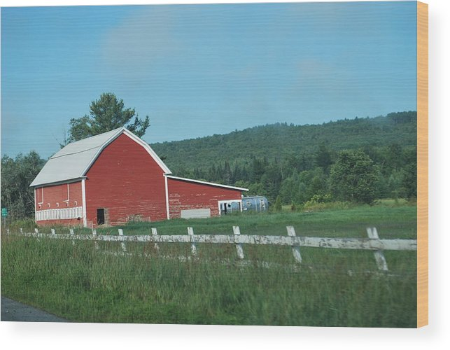 Red Barn Wood Print featuring the photograph Red Barn by Gloria Warren
