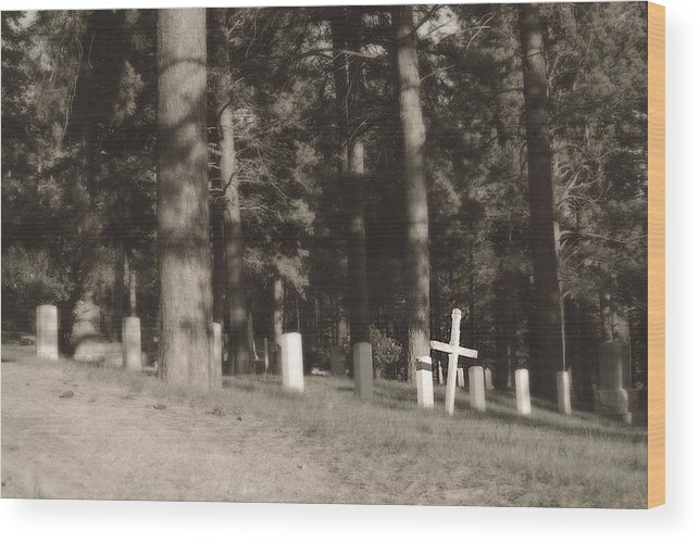 Mount Moriah Cemetary Wood Print featuring the photograph Resting Place by Rebecca Fowler