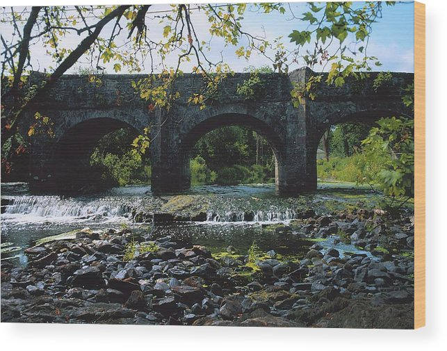 Arch Wood Print featuring the photograph River Annalee, Ballyhaise, Co Cavan by The Irish Image Collection