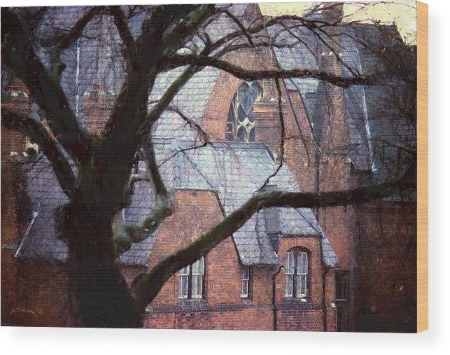 Church Wood Print featuring the digital art Rotterdam Church Netherlands by Jim Pavelle