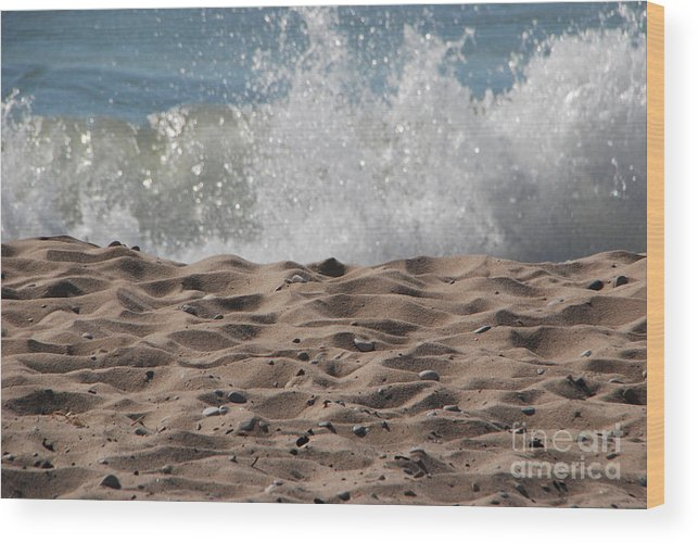 Beach Wood Print featuring the photograph Sand And Surf by Grace Grogan