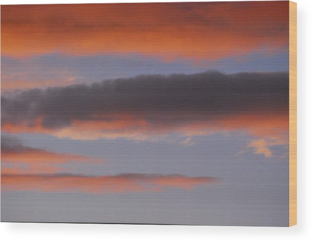 Autumn Wood Print featuring the photograph Sky In Blue And Orange by Marcia Mello