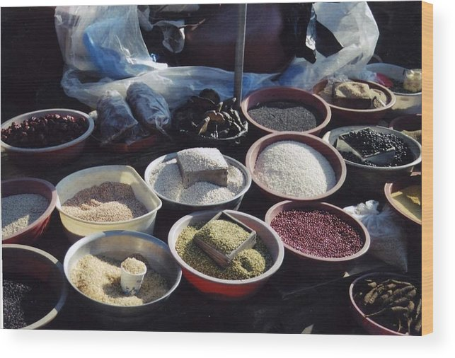 Spices Wood Print featuring the photograph Spice Market by DLynne Warren
