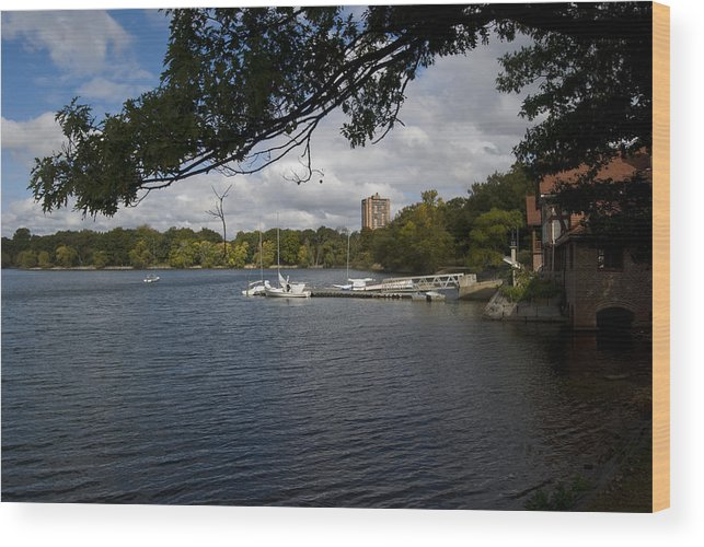 Jamaica Plain Wood Print featuring the photograph Jamaica Pond Sailing by Gordon Gaul