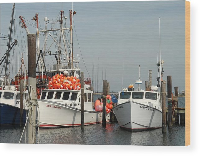 Commercial Fishing Boats Wood Print featuring the photograph Vessel 97 by Joyce StJames