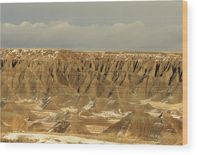 South Dakota Wood Print featuring the photograph Weather Comin' by Rebecca Basden