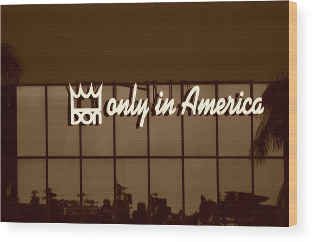 Sepia Wood Print featuring the photograph Don King Only In America by Rob Hans