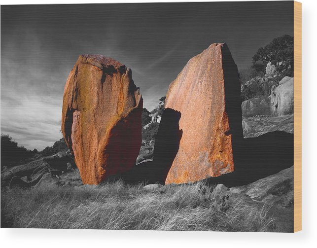Photography Wood Print featuring the photograph Enchanted Rock Megaliths by Tom Fant