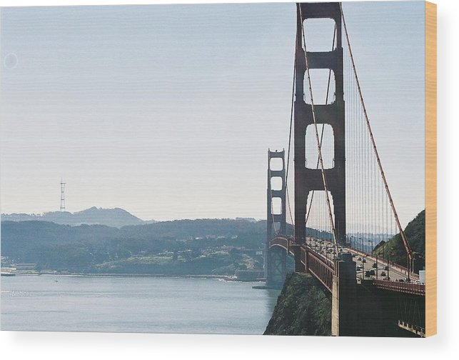 Landscape Wood Print featuring the photograph Golden Gate Bridge by Edward Wolverton
