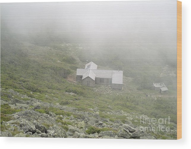 Hike Wood Print featuring the photograph Madison Spring Hut - White Mountains New Hampshire by Erin Paul Donovan