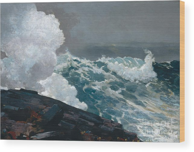 Northeaster Wood Print featuring the painting Northeaster, 1895 by Winslow Homer