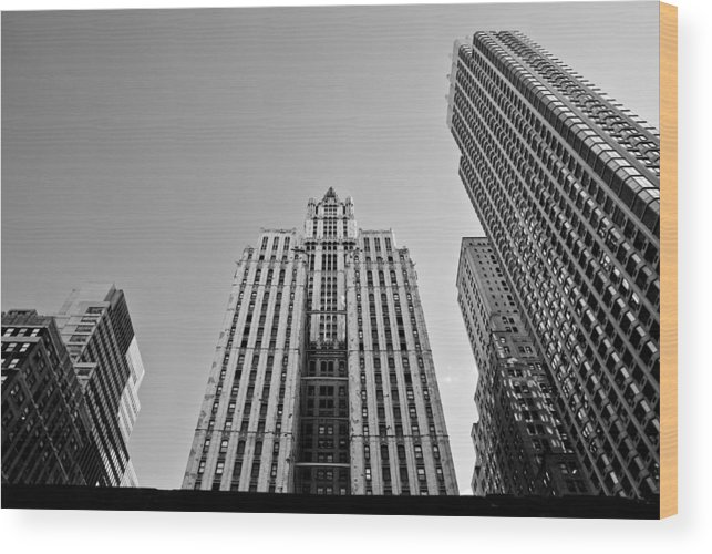 New York City Wood Print featuring the photograph Nyc Buildings by Patrick Flynn
