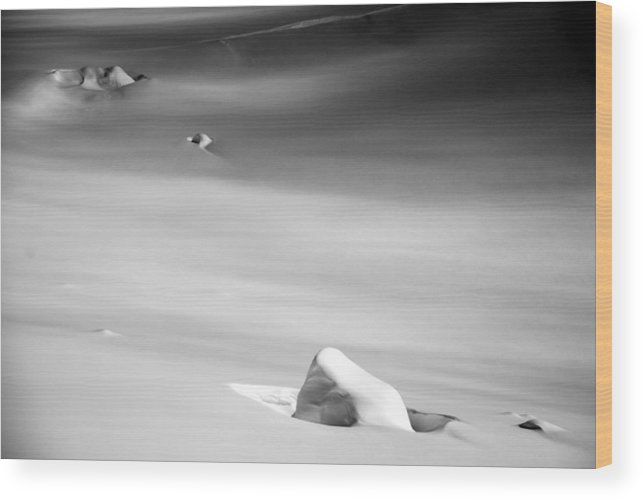 Snow Wood Print featuring the photograph Snow And Ice by Alasdair Turner