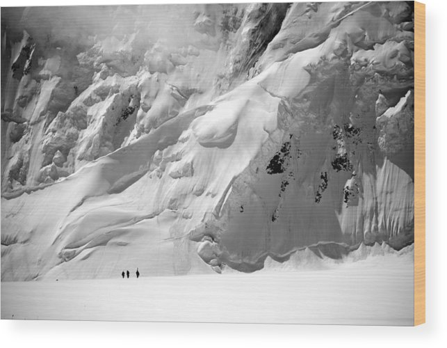 Glacier Wood Print featuring the photograph Three Figures by Alasdair Turner
