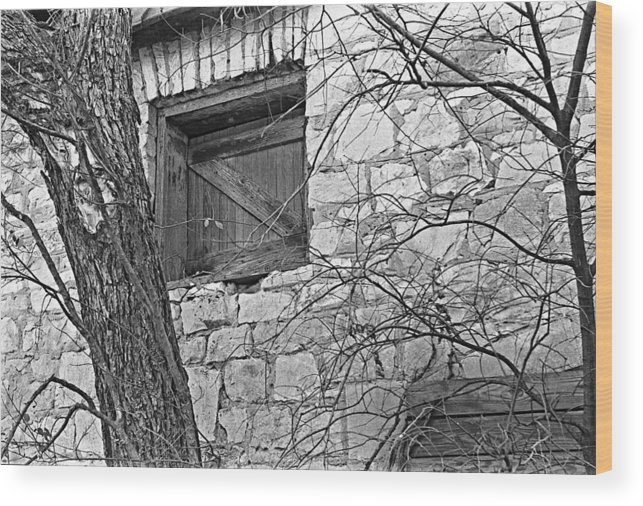 Stone Buildings Wood Print featuring the photograph Window To The Past by Jim Smith