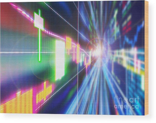 Analysis Wood Print featuring the photograph Stock Market Concept by Setsiri Silapasuwanchai