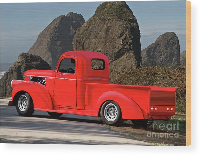 Automobile Wood Print featuring the photograph 1941 Chevrolet Stepside Pickup by Dave Koontz