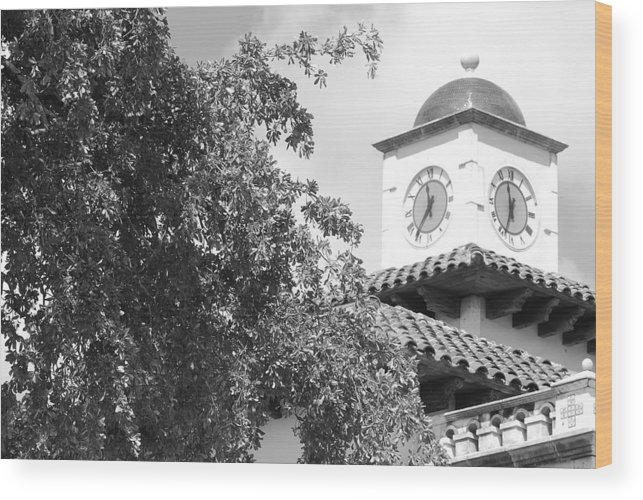 Clock Wood Print featuring the photograph Clock Tower by Rob Hans
