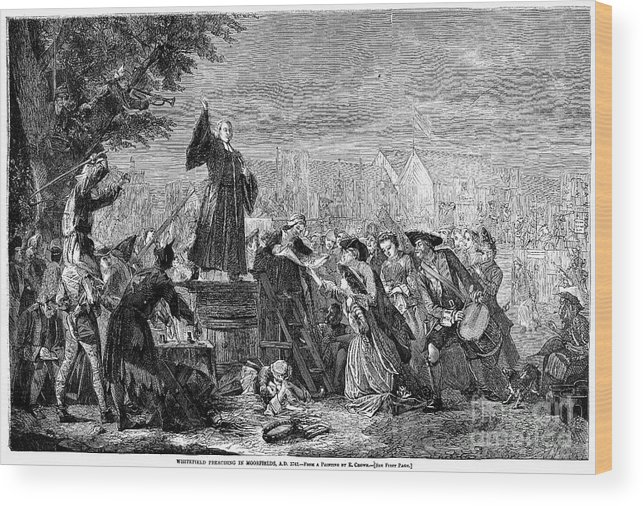 1742 Wood Print featuring the photograph George Whitefield by Granger