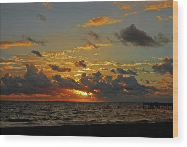 Sunrise Wood Print featuring the photograph 6- Juno Beach by Joseph Keane