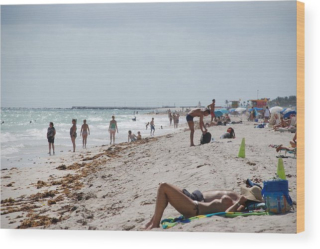 Nude Wood Print featuring the photograph A Day At Paradise Beach by Rob Hans