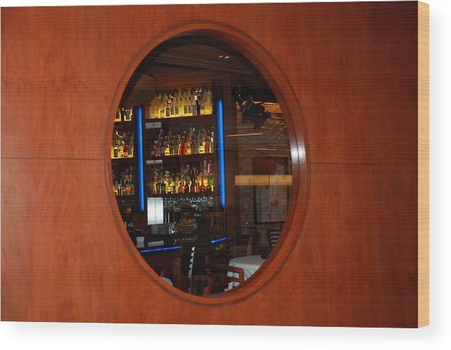 Architecture Wood Print featuring the photograph A Look Thru The Fishbowl by Rob Hans