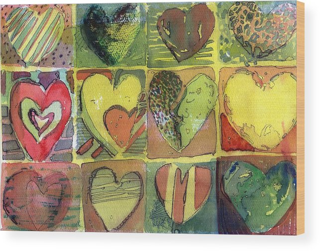 Valentine Wood Print featuring the painting A Sunny Valentine by Mindy Newman