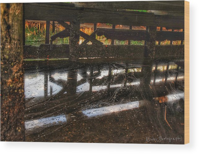 Dock Wood Print featuring the photograph Abandon Dock by Allen Williamson