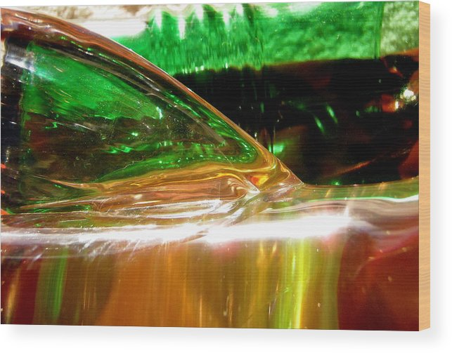 Abstract Wood Print featuring the photograph Abstract 381 by Stephanie Moore