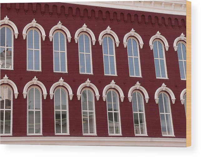 Arched Windows Wood Print featuring the photograph Arches by David Bearden