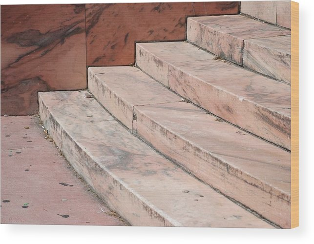 Architecture Wood Print featuring the photograph Art Deco Steps by Rob Hans