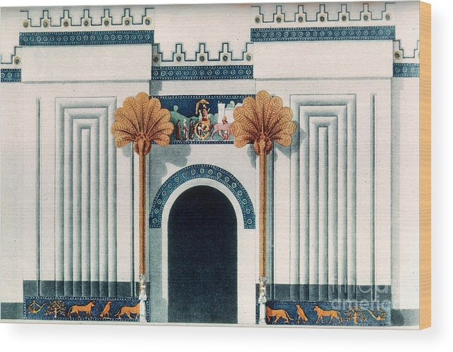 6th Century B.c. Wood Print featuring the photograph Assyrian Temple by Granger