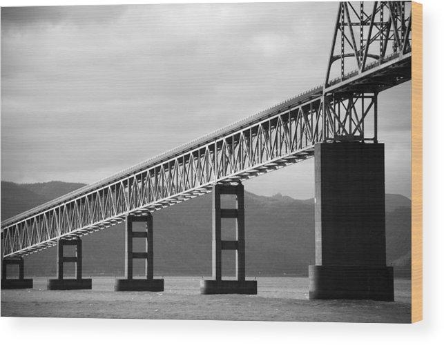 Astoria Wood Print featuring the photograph Astoria Bridge by Alasdair Turner