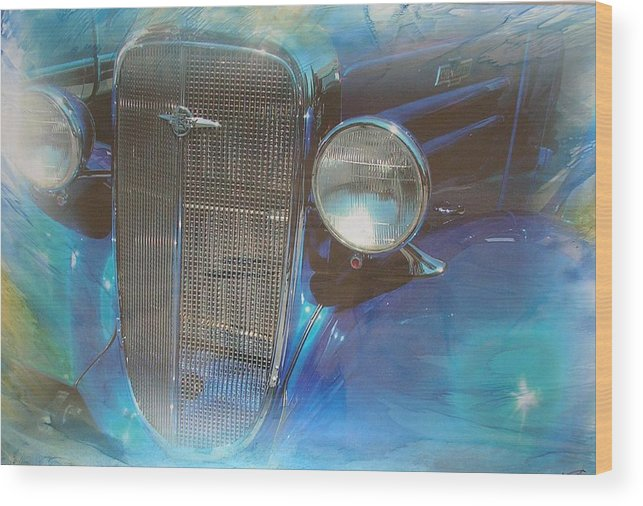 Digital Wax Mixed Media Wood Print featuring the mixed media Auto Series 3 by John Vandebrooke