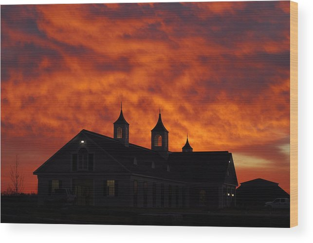 Barn Wood Print featuring the photograph Barn Four At Sunrise by Steven Crown