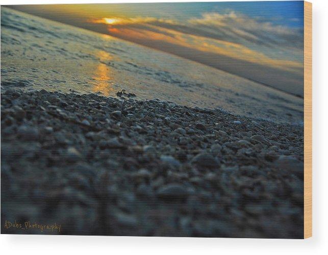 Sunrise Wood Print featuring the photograph Beach Sunrise by Allen Williamson