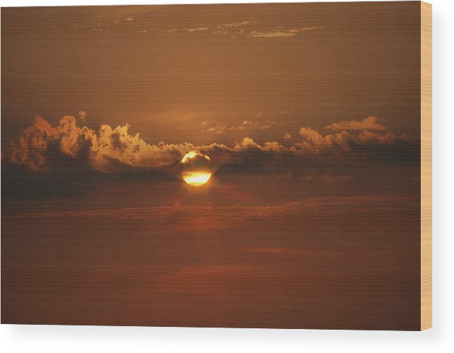 Landscape Wood Print featuring the photograph Beach Sunset 2 by Lisa Gabrius