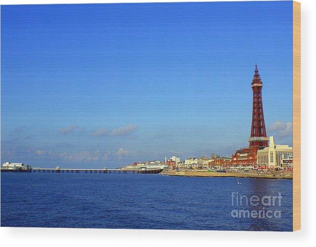 Blackpoo Wood Print featuring the photograph Blackpool by Jacqui Kilcoyne