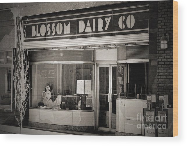 Blossom Dairy Company Wood Print featuring the photograph Blossom Dairy Co. by T Mooney