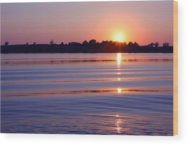 Sunset Wood Print featuring the photograph Blue Water Sunset by Jim Darnall