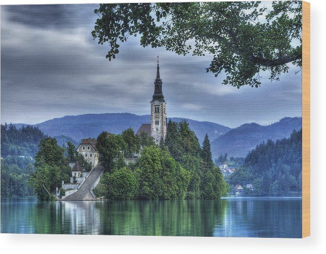 Slovenia Wood Print featuring the photograph Boat Landing by Don Wolf