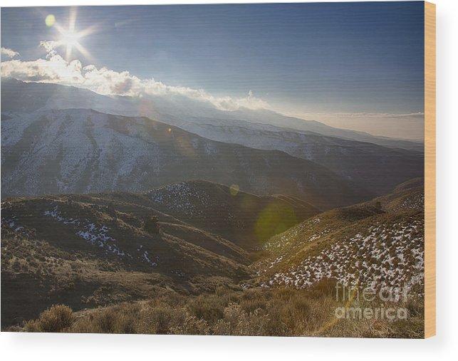 Bogus Basin Road Wood Print featuring the photograph Boise Ridge by Idaho Scenic Images Linda Lantzy