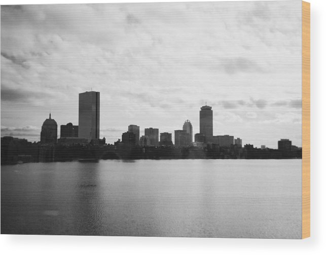 Skyline Wood Print featuring the photograph Boston Skyline by Utopia Concepts