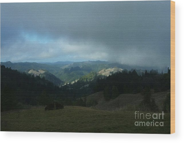 View Wood Print featuring the photograph Break In The Storm by JoAnn SkyWatcher