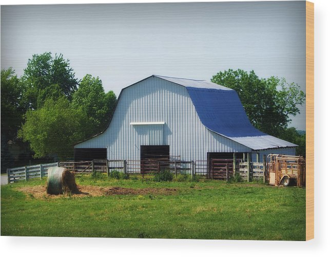 Barn Wood Print featuring the photograph Calvin Road Barn by Cricket Hackmann